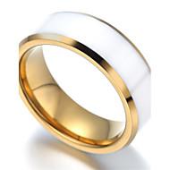 Mens tungsten Ring, Gold & White KR2040