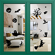 dør klistremerker døren dekaler stil halloween glass vinduet dekorasjon pvc dør klistremerker