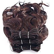 Halloween 3 morceaux cheveux humains bouclés tissent texture brésilienne cheveux humains teinté bouclés