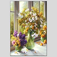 Peint à la main A fleurs/BotaniqueModern / Style européen Un Panneau Toile Peinture à l'huile Hang-peint For Décoration d'intérieur