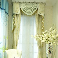 (dois painéis) cortina de seda floral moderno do falso impresso eco-friendly (saia e pura não incluídas)