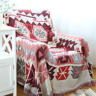 Red Cotton Check Thickening Line Decorative Carpet Sofa Towel Blanket