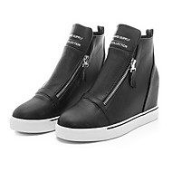 Women's Shoes Low Heel Round Toe Fashion Sneakers Casual Black / White