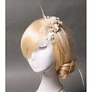 Women's Feather / Tulle / Imitation Pearl Headpiece-Wedding / Special Occasion / Casual Hair Clip 1 Piece Clear