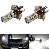2Pcs 80W CREE White H4 High Power LED Tail Turn Brake Head Car Light Lamp Bulb