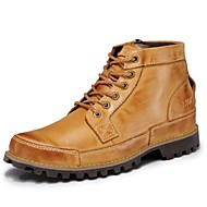 Men's Shoes Outdoor / Office & Career / Party & Evening / Athletic / Casual Leather Boots Brown / Khaki