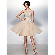Vestito - Champagne Cocktail Trapezio V Cocktail Tulle