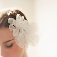 Sheer Silk Organza Flower Pair - Wedding / Special Occasion Hair Clip 1 Piece