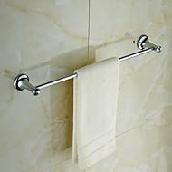 "Towel Bar Chrome Wall Mounted 605 x 90 x 55mm (23.8 x 3.54 x2.16"") Brass / Crystal Contemporary"