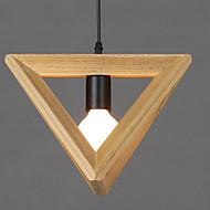 Modern Wooden Dining Room Pendant Lights, Simple Kitchen Pendant Lamps Bar Cafe Hallway Balcony Pendant Lamp