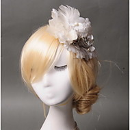 Women's Feather / Rhinestone / Tulle / Fabric Headpiece - Wedding / Special Occasion / Casual Fascinators 1 Piece
