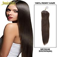 8A 최고의 마이크로 링 붙임 머리, 여러 색의 마이크로 루프 링 링크 바로 인간의 씨실 100 % 브라질 처녀 머리
