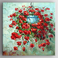Oil Painting Modern Knife Flower Painting Hand Painted Canvas with Stretched Framed Ready to Hang