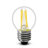 1 ks SML E14 / E12 / E26/E27 4 W 4 COB 400 LM Teplá bílá G45 Stmívací LED filamentová světla AC 220-240 / AC 110-130 V