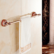Towel Bar Gold Wall Mounted 64cm*7.8cm*6.4cm(25.2*3.1*2.5inch) Brass / Zinc Alloy Neoclassical