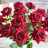 Simulation Flowers Blooming Roses  (Ten Packaging)