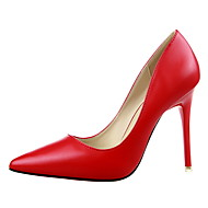 2015 Brand Womens Pumps High Heels Sexy OL Sole Shoes Pointed Toe Patent Leather Black Beige Heel Wedding Shoes