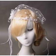 Dame / Blomsterpige Blonde / Tyl / Net Medaljon Bryllup / Speciel Lejlighed / Afslappet Fuglebur SlørBryllup / Speciel Lejlighed /