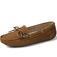Kényelmes-Lapos-Női-Vitorlás cipők-Irodai Ruha Alkalmi Sportos Party és Estélyi-Fordított bőr-