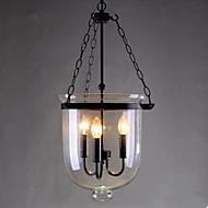 Circular Country Glass Pendant Lamp