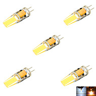 YWXLight® 5 pcs G4 6 W 2 COB 600 LM Warm White / Cool White MR11 Decorative Bi-pin Lights (AC/DC 10-14V)