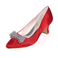 בלרינה\עקבים - נשים - נעלי חתונה - מרובע - חתונה / מסיבה וערב - שחור / כחול / סגול / אדום / שנהב / לבן / כסוף / שמפניה