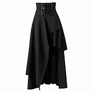 VOIN Women's Solid Color Black Skirts , Vintage / Sexy / Party High Rise / Mid Rise Midi