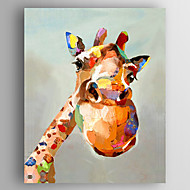Oil Painting Giraffe Hand Painted Canvas with Stretched Framed Ready to Hang