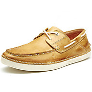 Men's Shoes Outdoor / Athletic / Casual Suede Boat Shoes Brown / Taupe