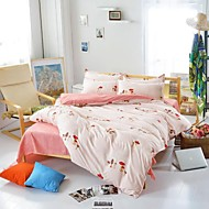Mingjie® Pink and White Mushroom Street Queen and Twin Size Sanding Bedding Sets 4pcs for Boys and Girls Bed Linen China