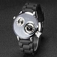 V6® Men's Army Design Double Time Silicone Strap Quartz Watch Cool Watch Unique Watch