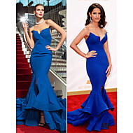 TS Couture Military Ball / Formal Evening Dress - Royal Blue Plus Sizes / Petite Trumpet/Mermaid Strapless Sweep/Brush Train Chiffon