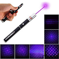 LT - 5mw 405nm Purple Laser  Pen Flashlight - Black