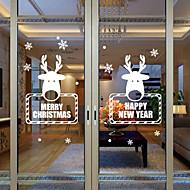 Okno Okno samolepky obtisky stylu nového Vánoční vločka jeleni okenní sklo dekorace pvc samolepky