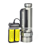 LED taskulamput LED 3 Tila 8000 Lumenia Vedenkestävä / ladattava / Iskunkestävä / Isku viiste / Taktinen / Hätä Cree XM-L2 26650