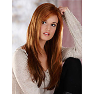 Long Brown Color Wigs,Capless Straight Long Brown Fashional Synthetic Wig Best Selling