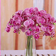 Home Decoration Polyester Butterfly Orchids Phalaenopsis Artificial Flowers