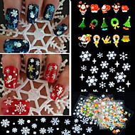 - Finger - 3D Nails Nagelaufkleber / Nail Schmuck - PVC - 12 Stück - 6*5*1 cm