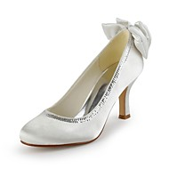 Women's Shoes Satin Spring / Summer / Fall / Winter Heels Wedding Stiletto Heel Bowknot / Sequin Ivory / White