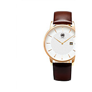AIBI® Men's Fashion Watch Calendar Water Resistant Rose Gold Dail Brown Desinger Dress Watch Leather Band Casual Watch Wrist Watch With Watch Box