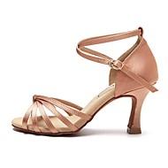 Niet Aanpasbare - Voor dames - Dance Schoenen ( Zwart / Bruin / Roze ) - met Uitlopende Hakken - en Latijn