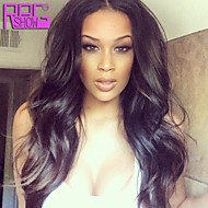 Natural Wave 130% Density Virgin Brazilian Human Hair Lace Front Wig 10-26inch in Stock
