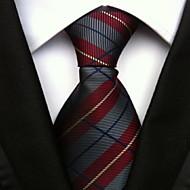Men Wedding Cocktail Necktie At Work Gray Red Colors Tie