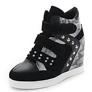 נעלי נשים - נעלי ספורט - סינטתי / סוויד / טול - קריפרס - שחור / אדום / אפור - קז'ואל / מסיבה וערב - עקב שטוח