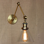 AC 100-240 40 E26/E27 Rustikk Antikk Messing Trekk for Pære inkludert,Atmosfærelys Svingarmlamper Vegglampe