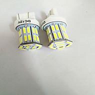 2PCS T20 7443 7020 32SMD 16W 7000-7500K StopLight  white light 12V