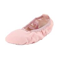 Tanssikengät - Vaaleanpunainen - Vatsa / Baletti / Tanssitossut - Kangas - Tasainen kanta -
