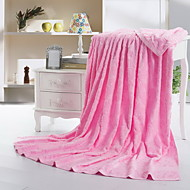 Extra měkká Modrá / Zelená / Růžová,Žakár Květiny 100% bavlna přikrývky 150*200cm  180*220cm
