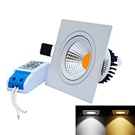 JIAWEN 7W 9X9CM Anti-Glare COB LED Ceiling Light White/Warm White 600LM (AC 85~265V)