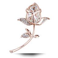 Taobao Explosion Adicolo Crystal Rose Flower Brooch